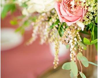 Pink Rose Flower Bouquet Fine Art Canvas wrap -Washington