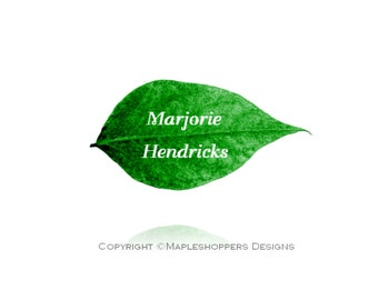 Printable Leaf Place Card on apples, pears Editable Name Tag MS Word Template Green Leaf name place card Instant Download