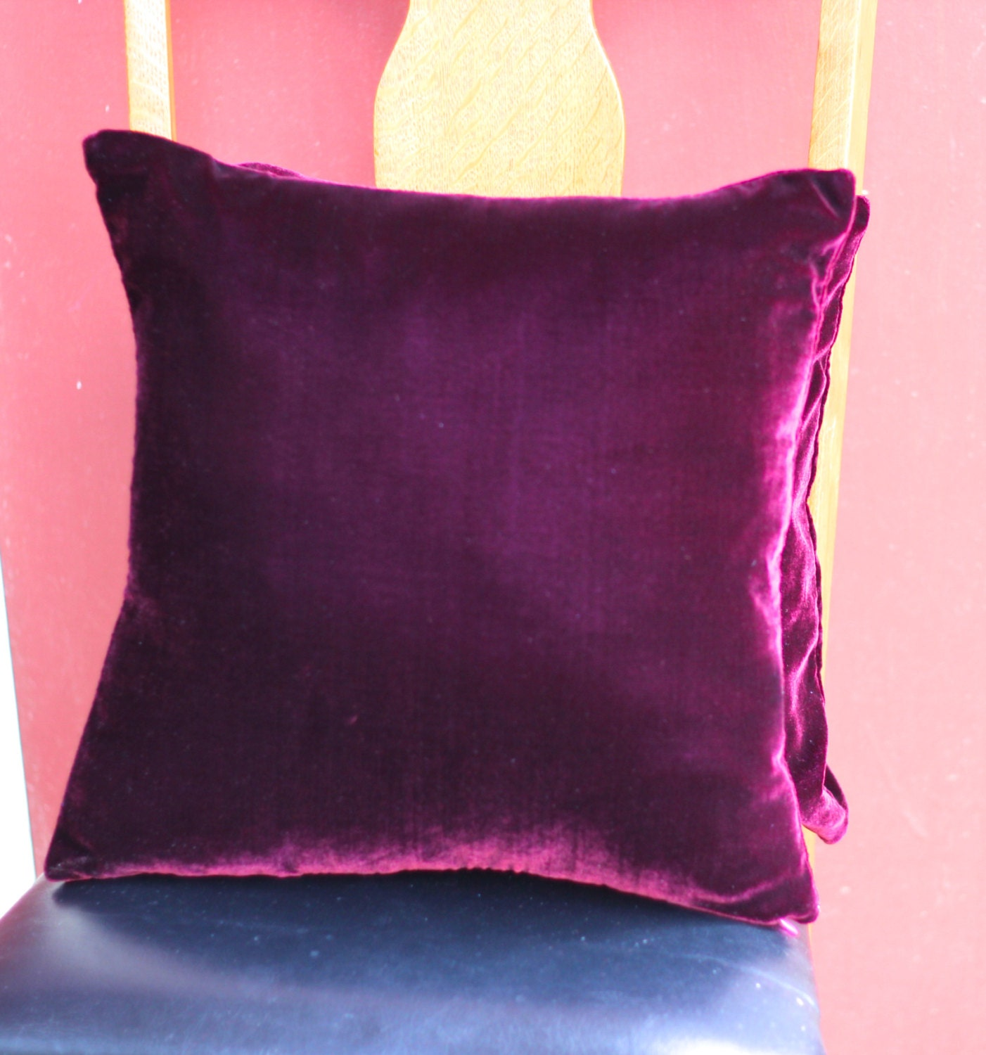 Throw Pillows Velvet : Wine silk velvet throw pillow
