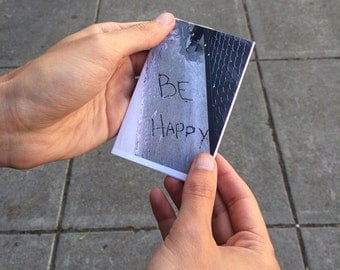 Be Happy // Found Text Mini Zine