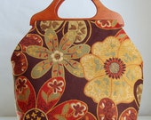 Dynamic Spice Large Craft Project Tote/ Knitting Tote Bag - READY TO SHIP