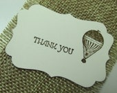 Set of 25 Hot Air Balloon Thank You Label Tags