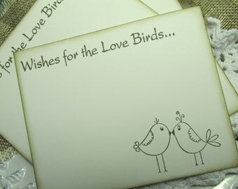 Wedding Wish cards with Love Birds.  Alternative to guest book.