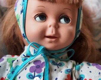 Vintage rare full working speaking and moving eye doll - Mattel - made in Canada