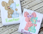 Machine Embroidery Design Applique My First Easter Boy and Girl Set INSTANT DOWNLOAD
