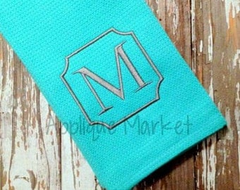 Machine Embroidery Design Serif Square Monogram INSTANT DOWNLOAD