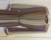 Lavender striped altered vintage secretary dress small medium