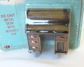 Holly Hobbie NIB Metal Desk Dollhouse Furniture Old New Packaging Doll House Copper Color Old Fashioned Collectors Miniatures Prairie Style