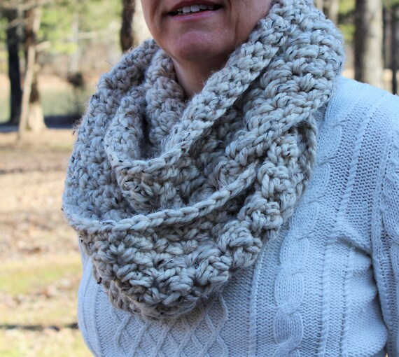 Crochet Pattern For Winter Shawl : Crochet pattern scarf womens cowl winter scarf by ...