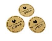 French Sticker - Fait Main Avec Amour