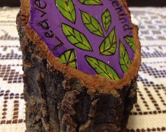 Leave your cares behind – tree stump art