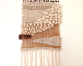 sand and wind -- handwoven natural fiber wall hanging -- AsA handmade