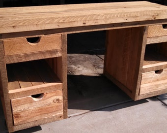 YOUR Custom Made Rustic Barn Wood Desk with Free Shipping-RABWD800F