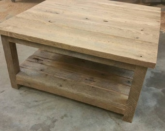 YOUR Customized Reclaimed Rustic Barn Wood Coffee Table FREE SHIPPING-RRBWCT400F