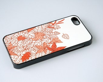 Custom Phone Cases, Fall Phone Cases, Leaves, Jewel Tone, iPhone 6 Cases, iPhone Cases, Orange