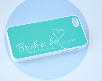iPhone 7 Case, Bride to Be iPhone Case + Mint + Silicone iPhone 6 Case, iPhone 6 Plus, 6+ Case, Wedding Gift, Bride to Be iPhone 5