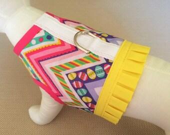 Easter Chevron Dog Harness Vest