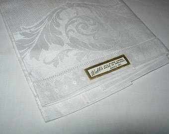 Antique Linen Damask Guest Towel
