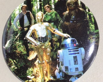 1983 Return of the Jedi A The Whole Gang Pin back Button by Adam Joseph