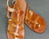 Gemma - Wanderer Collection - Leather Sandal - Tan