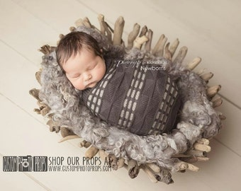 RTS Newborn Cocoon, Vincent Geo Newborn Props Snuggle Sack, Newborn Photography Props, Newborn Photo Props, Baby Props, Knit, Baby Sack