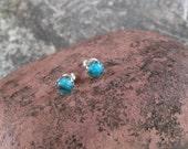 Kingman Turquoise Sierra Sterling Post Earrings