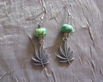 Pot leaf earrings