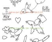 Birdie Birddie Clear Polymer Stamp Collection