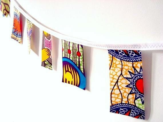 Party bunting African wax print garland 20 yards, African wedding, African party, African garland