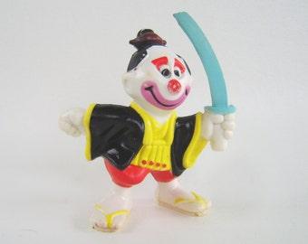 Vintage Samurai Clown Mego Clowns Around Collectible 80's Figurine