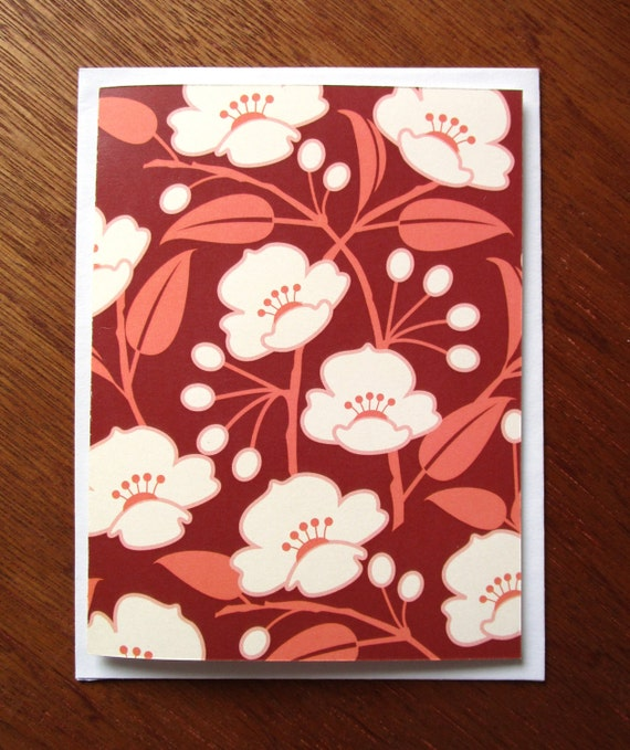 Spring Blossoms Blank Note Card