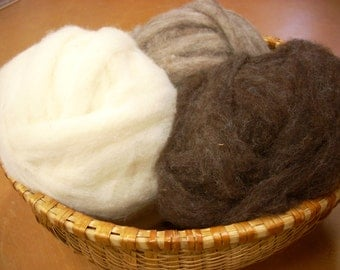 Natural Roving From Our Sheep