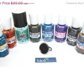 BLACK Friday CYBER Monday Make Your Own Nail Polish Ring - Customize ONE Piece