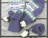 PATTERN ONLY sheep and lamb mittens