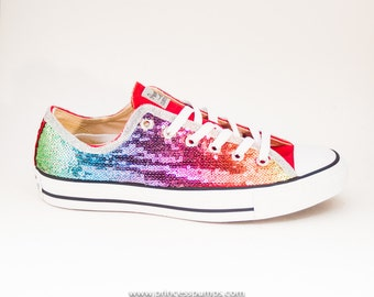 Rainbow Sequin Converse Shoes