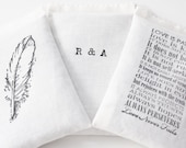 Personalized Gift for Her, Organic Lavender Bags with Initials, Quote, and Motif, Cotton Anniversary, Valentines Day