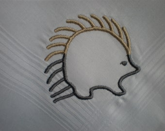 Porcupine  Hankerchief. Wildlife Hankies.Buffalo Moose.Porcupine.Skunk Gift Hanky