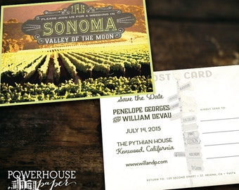 Sonoma Post Card Save the Date