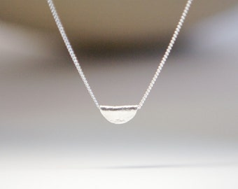 Simple Silver Necklace Yoga Jewelry Charm Tiny Charm Simple Jewelry Gift for Her Tween Teen Mom Mother Sister Bridesmaid Special Occasion