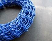 Indigoblue knitted paperbangle