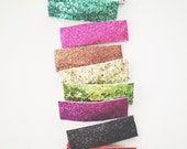 Glitter clip- YOU choose color & size
