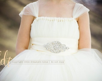 Ivory Princess Flower Girl Tutu Dress