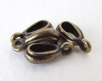 TierraCast Antiqued Brass Ox Necklace Bail Nouveau Pendant Finding bax0004 (4)