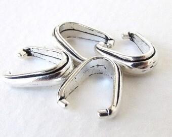 Pinch Bail TierraCast Antiqued Silver Ox Nouveau Pendant Finding bax0012 (4)