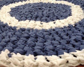 Cotton Crochet Upcycled Rag Rug