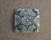 Vintage square gold tone marcasite type scarf clip scarf brooch