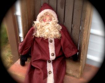 Red Old World Santa