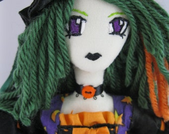 Halloween Witch Hemlock :Plush tall doll figure
