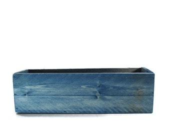 Blue Planter or Centerpiece Box - Wedding , Home Decor , or Garden