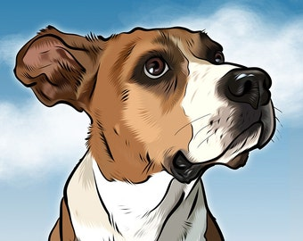 Custom pet portrait - digital print